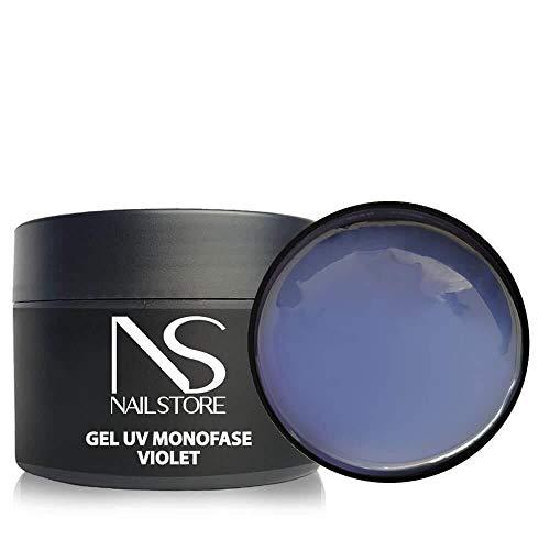 Gel UV Led Costruttore Monofasico Clear Violet Trasparente - media densità - autolivellante (50g)