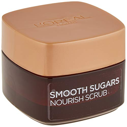 L'Oreal Paris Smooth Sugar Nourish Scrub viso e labbra al cacao, 50 ml