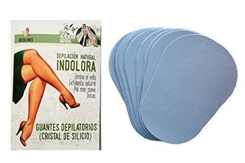 Decolores |, Depilazione naturale e indolore di parti del corpo, ideale per la cura della pelle. Include 15 dischi di ricambio minerali in silicio.