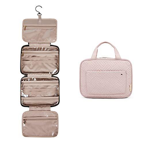 BAGSMART Beauty Case Donna Beauty Case da Viaggio Trasparente Trousse da Viaggio Impermeabile con Gancio Appeso Borsa da Toilette per Cosmetici,Accessori, Shampoo, Contenitore, Articoli da Toeletta