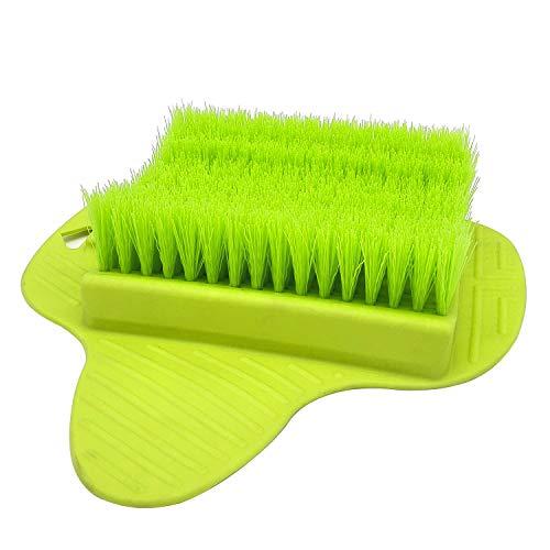 Spazzola per massaggio ai piedi con ventose, YLX Doccia esfoliante Piedi Spazzola per doccia detergente per bagno Doccia Trattamento termale (verde)