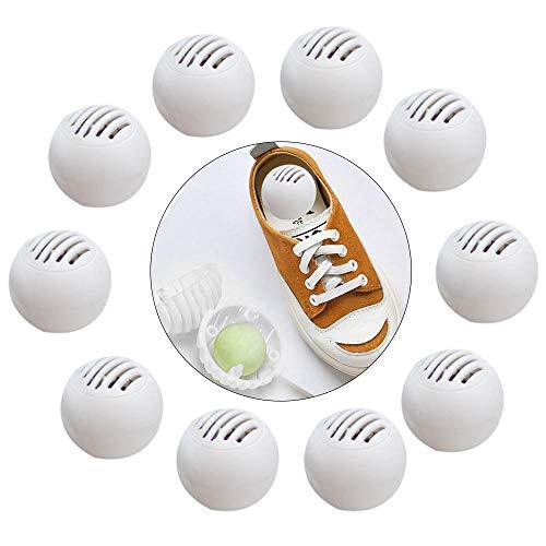 Peedeu - Deodorante per scarpe con palline (contiene 10 palline), deodorante per scarpe da ginnastica, armadietti, borse da palestra, casa, ufficio e auto, aria fresca, aroma fruttato naturale