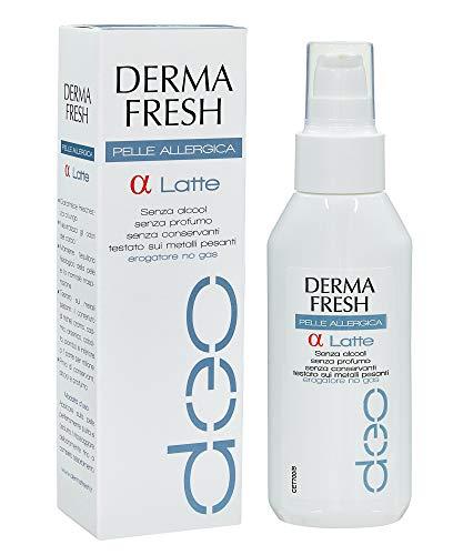 DERMAFRESH ALFA LATTE α - Deodorante Latte Corpo da 100 ml - PER PELLE ALLERGICA