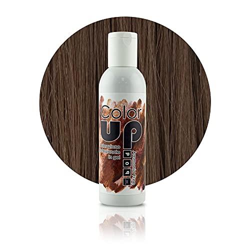 Pop Italy Color Up Tinta Professionale per Capelli in Gel Senza Ammoniaca - 150 ml (6/41 Cacao)