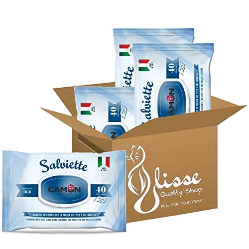 Ulisse Quality Shop Camon Salviette Detergenti al Talco. Multipack 4 Confezioni