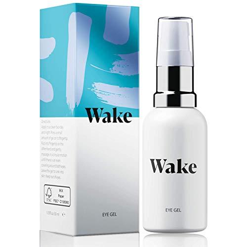 WAKE gel idratante per occhiaie e borse sotto gli occhi, crema contorno occhi - Vitamina E - Collagene - crema viso antirughe 30ml - crema viso e occhi per uomo e donna
