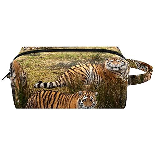Borse da Toilette,Tigre siberiana ,make up borse da viaggio,Beauty Case da Viaggio,Cosmetici Trucco Pochette da Toilette Organizer