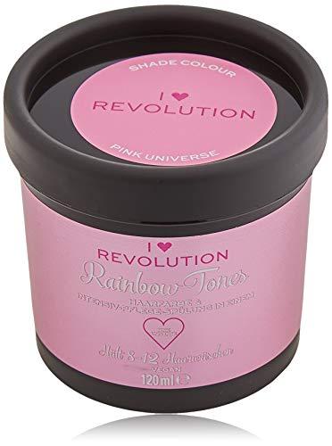 I Heart Revolution Rainbow Tones Pink Universe - Crema semi permanente per capelli e balsamo in un unico – lavabile con 8-12 lavaggi – Vegan riutilizzabile – 120 ml