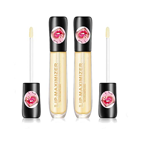 ZANLION Lip Plumper Extreme Lip Gloss Maximizer Volume Plump Labbra più Grandi Idratante, Elimina la secchezza Rughe Migliora la lucentezza Plump (2 PCS)