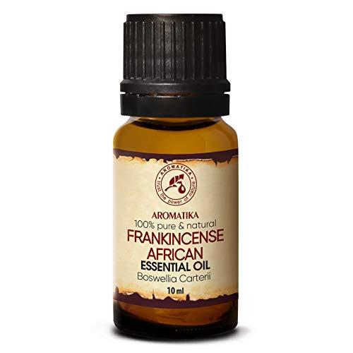 Olio Essenziale di Incenso 10ml - Boswellia Carterii - Africano - 100% Puro - Cura del Corpo & Pelle - Aromaterapia - Diffusore di Aromi - Lampada di Fragranza - Fragranza della Stanza