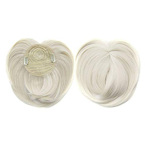 Hair Toppers per capelli diradati Donna,Silky Clip-On Hair Topper Wig Heat Resistant Fiber Hair Extension Hair Pieces for Women with Thinning Hair Gray Hair Loss (60#)