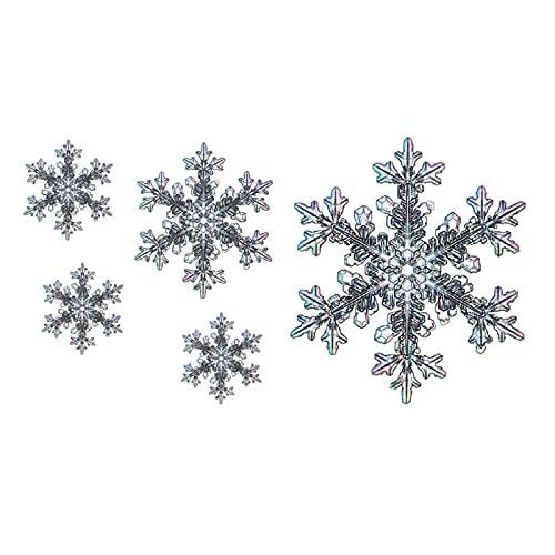 5 fogli adesivi per tatuaggi impermeabili ghiaccio memoria colore fiocchi di neve simpatici adesivi per tatuaggi temporanei freschi e duraturi