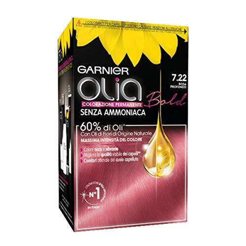 Garnier Tinta Capelli Olia, Colorazione Permanente senza Ammoniaca per una Fragranza Delicata, Copre il 100% dei Capelli Bianchi, Deep Rose, Confezione da 1
