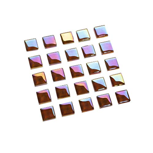 50Pcs smaltato Crystal Mosaic Tiles 1,2 centimetri quadrati Mosaico pietre Mosaico fai da te Fare Tile O 1,2 centimetri Materiali Multi Color * 1,2 centimetri