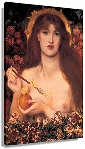 Quadro Camera da Letto Famoso Most Pop Dante Gabriel Rossetti Venus Verticordia Romanticismo Retro Modern Decorativo Stampa Artistica Wall 50x70cm x1 Senza Cornice