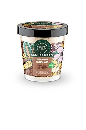 Organic Shop, scrub corpo ravvivante Body dessert, all'olio di mandorle, miele e latte da 450 ml (etichetta in lingua italiana non garantita)