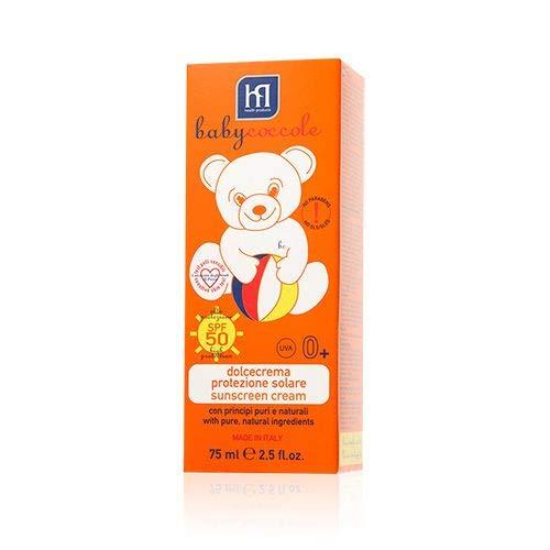 babycoccole dolcecrema protezione solare spf 50+ molto alta neonati e bambini per pelli delicate