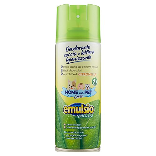 Emulsio Naturale 0268413 Home And Pet Care Deodorante Igienizzante Cuccia e Lettiera Lavanda, 400 ml