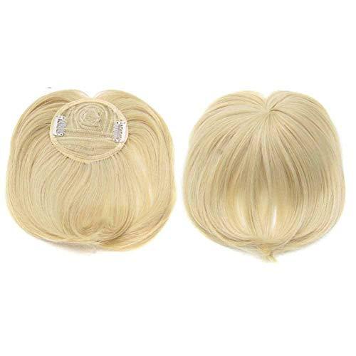 Frangia Capelli Clip Capelli Veri Extension Frangetta, Silky Clip-On Hair Topper per capelli diradati Donna, Heat Resistant Fiber Wig Hair Extension for Women (M22/613)