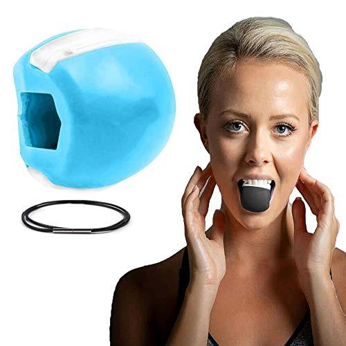 Jaw Exerciser Jaw Trainer Tonico per Il Viso Ginnico per Mascelle e Attrezzatura Tonificazione del Collo Attrezzatura Strumento per la Bellezza (Blu)