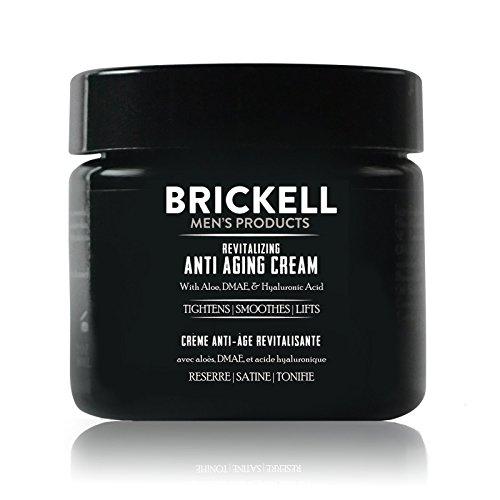 Brickell Men's Products Crema Rivitalizzante Anti-invecchiamento, Naturale ed Organica, Crema Viso Notte Anti Rughe – 2 once