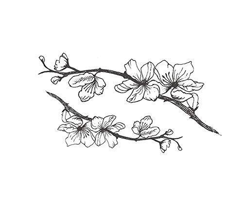 4 fogli adesivi per tatuaggi temporanei con fiori di pesco per cicatrici di copertura per feste in costume cosplay