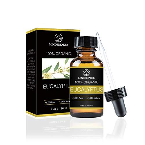 Olio essenziale di eucalipto 100% puro e naturale di alta qualità Grado terapeutico perfetto per la pelle di rilassamento di aromaterapia 4 Fl oz 120 ml con contagocce (120 ml)