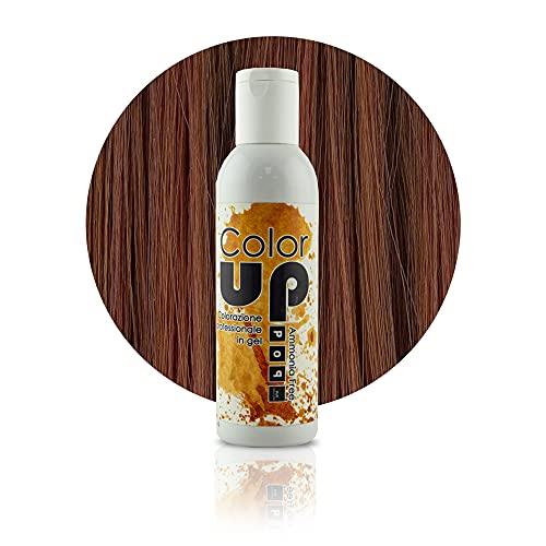Pop Italy Color Up Tinta Professionale per Capelli in Gel Senza Ammoniaca - 150 ml (6/34 Biondo Scuro Dorato Rame)