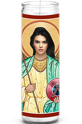 Kendall Celebrity - Candela di preghiera divertente in vetro da 20,3 cm, 100% realizzata a mano negli Stati Uniti