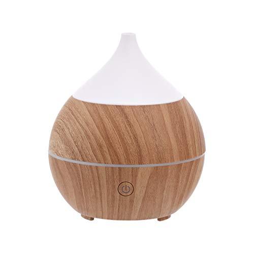 Amazon Basics - Diffusore di oli essenziali per aromaterapia, a ultrasuoni, 200 ml, con altoparlante Bluetooth, base con finitura color legno classico