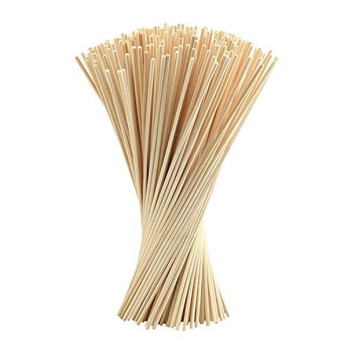 FEPITO 250 Pcs Bastoncini per Diffusori Diffusore Reed Sticks olio aroma Diffusore Sticks legno Rattan Reed Sticks