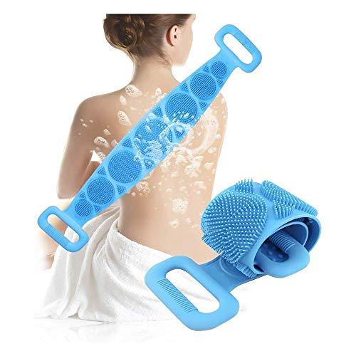 Spazzola da Bagno in Silicone, Asciugamano Esfoliante Per Scrubber Per La Schiena Si insapona bene, Silicone Spazzola da bagno Rondella corpo, massaggio confortevole per la doccia, ecologico (blu)