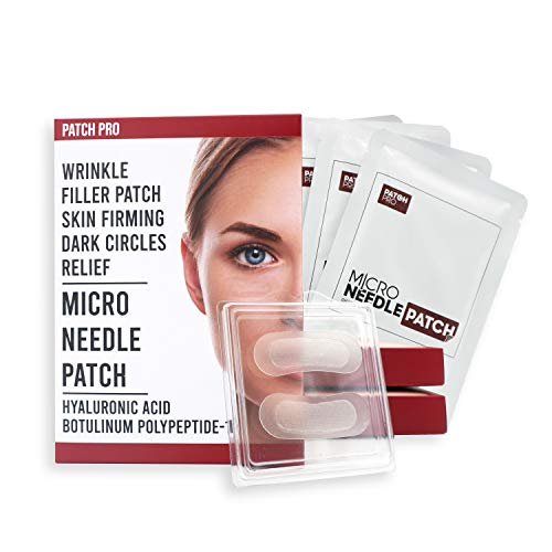 [Patch Pro] Micro Needle Patch - Patch per occhi in microneedle in acido ialuronico per rughe sottili, rughe degli occhi, occhiaie, rughe sulla fronte, cerotti per rughe 8 pezzi