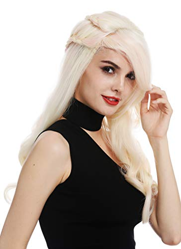 WIG ME UP - WL-5013TP-613FT2333 Parrucca Donna Lunga Trecce Platino Mix Biondo Rosa