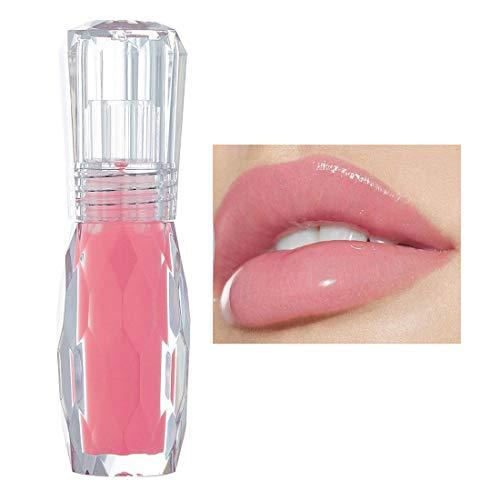 GL-Turelifes Lip Plumper Gloss Gelatina Colore Rossetto, lucidalabbra del cliear Lip Plump Gloss- Enhancer Hydrated Lips, Idratare, Eliminare le rughe di secchezza (#1)