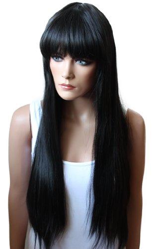 RettyShop Sexy Parrucca Liscia, ca. 80cm, fibra sintetica effetto capelli veri, resistenti alle alte temperature.