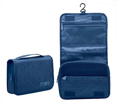 Beauty Case da Viaggio,Appeso Trousse da Toilette,Multi-compartimenti per Organizzare Oggetti Personali,Accessori(Navy)