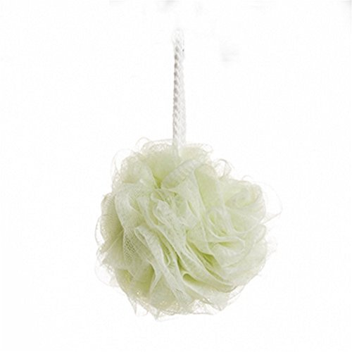 Bigboba, spugna soffice da bagno per il corpo, spugna da doccia in 'mesh' per insaponarsi, spugna esfoliante , verde, 13*13cm