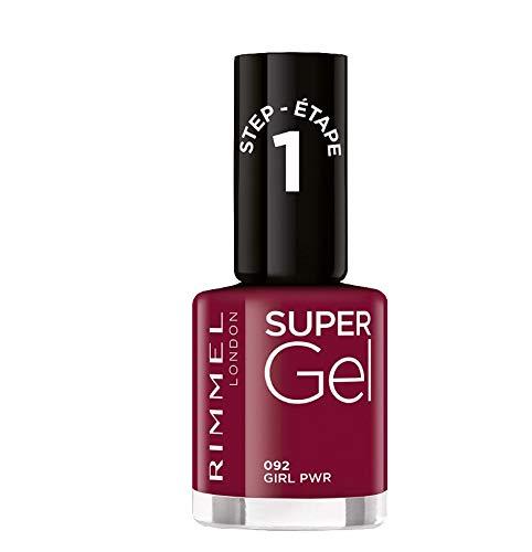Rimmel London Smalto Unghie Super Gel, Nail Polish Effetto Gel a Lunga Durata, 092 Girl Pwr, 12 ml