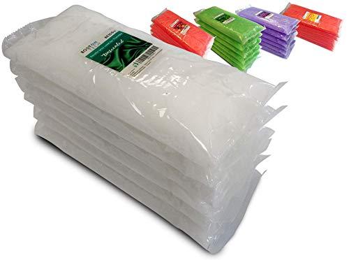 Boston Tech BE106-A Pura cera di paraffina 3 Kg. 6 blocchi da 500g C / u. Ideale per qualsiasi bagno di paraffina. Uso terapeutico ed estetico. 4 diversi aromi. Aloe Vera, gelsomino, Aroma neutro