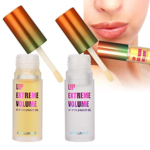Olio essenziale per labbra Plumper, Migliora il labbro completo, Idrata le labbra, Rughe di labbra chiare, Idrata le labbra Olio, Lip Plumper Lucidalabbra(Per l'uso diurno + notturno)