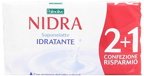 Palmolive Nidra - Saponelatte, Idratante Arricchito con Proteine del Latte - 3 Pezzi