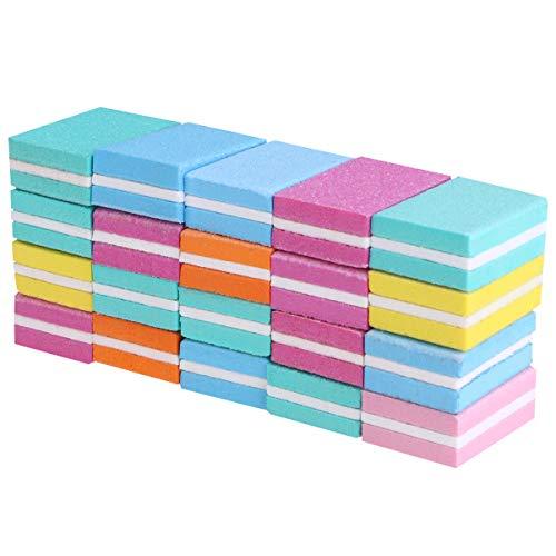 Minkissy blocchetti per smerigliatrice manicure strumento raschietto per unghie file per nail art blocco per lucidatura per negozio salone di casa 50 pezzi