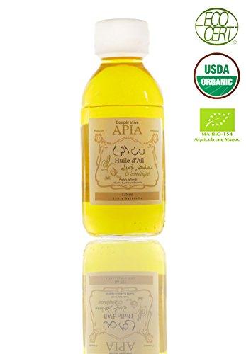 Aia - Olio di aglio vergine, 100% puro, Bio e naturale, Capacità: 125 ml
