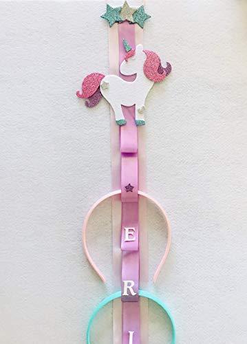 Porta Cerchietti Unicorno personalizzabile con nome