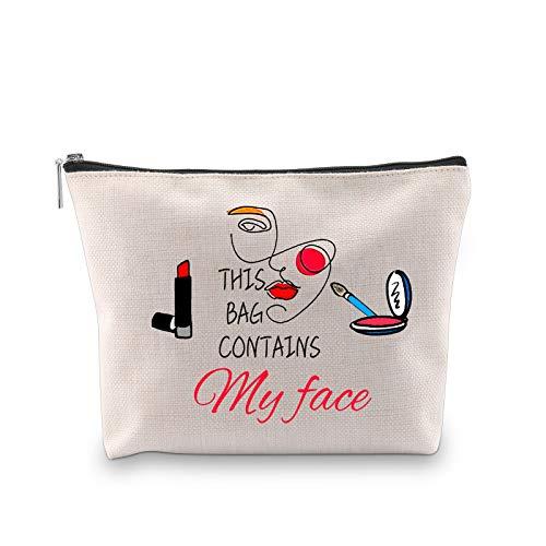 Divertente trousse da trucco per cosmetici, questa borsa contiene My Face Toiletry kit da viaggio custodia con cerniera