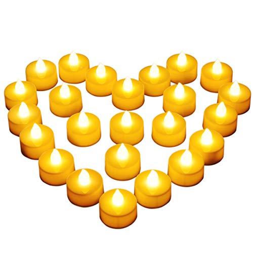 Diyife Lumini LED, [Nuova Versione] Candele LED Lumini Batteria Lumini da tè Candela Bianco Freddo Tealight Elettrica Lumini per Decorazione di Casa Halloween Natale Matrimoni Partito (24 Pezzi)