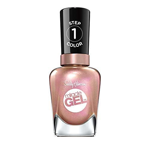 Sally Hansen Miracle Gel Smalto per Unghie, 174Shhhh di sempre, scintillante rosa, 15G
