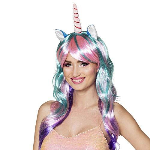 Boland- Parrucca Donna Unicorno Corno e Orecchie per Adulti, Daydream (Multicolore), Taglia Unica, 85818