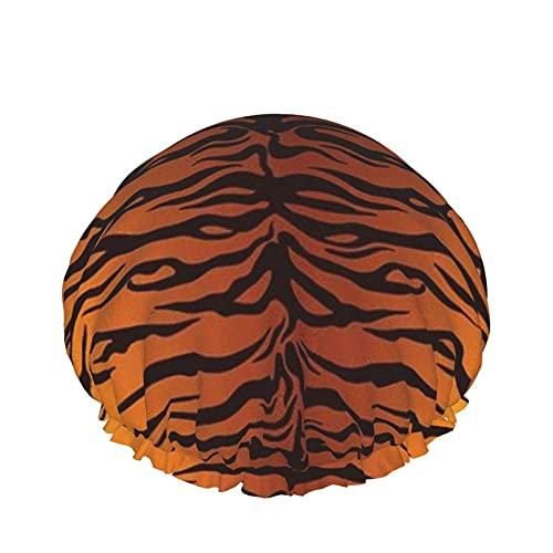 Cuffia da doccia Tiger Stripes Animali colorati Cuffia da bagno elastica a doppio strato impermeabile Cuffia da notte per uso domestico